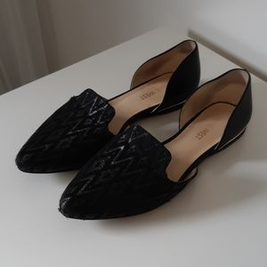 Nine West Black Flats, Size 5